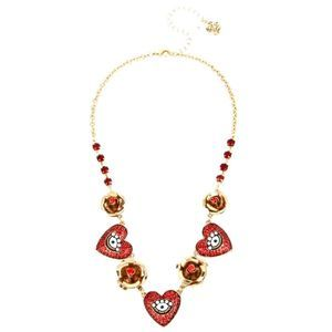 Betsey Johnson Rockin Riches Heart Necklace